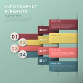 Abstract Origami Chart Infographics