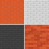 Seamless brick wall patterns.
