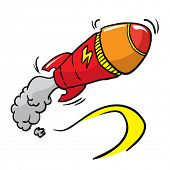 rocket missile cartoon illustration