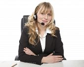 Smiling Young Call Center Operator