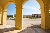 Arcade Gallery Of Schoenbrunn Palace In Vienna