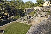 Archeological ruins, built by the Mayas
