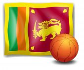 Illustration of a ball with the flag of Sri Lanka on a white background