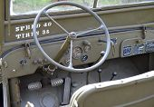 Detail of ancient  army jeep.