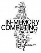 Word Cloud In-memory Computing