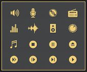 Music and sound icons. Vector illustration