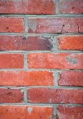 Old Red Brickwall Surface Close Up