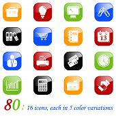 Business icons - color series