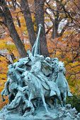 Ulysses S. Grant Cavalry Memorial in front of Capitol Hill in Washington DC, United States - Autumn