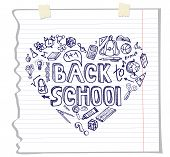 foto of drow  - Back to School Supplies Sketchy Notebook Doodles with Lettering and Swirls - JPG