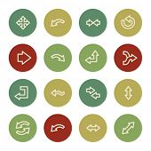 Arrows web icons, vintage color