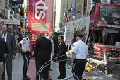 NYPD investigators in Duffy Square