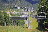 Ropeway On The Mountain Of Bukovel Ski Resort, Ukraine