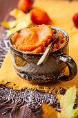 Pumpkin puree in a bowl