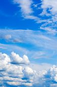 Bright Blue Sky Background