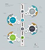 Gears Infographics. Infographics timeline.