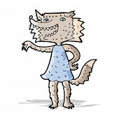 cartoon werewolf woman