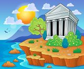 Greek theme image 3 - eps10 vector illustration.
