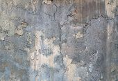 Texture Of Old Wall With Remnants Of Yellow