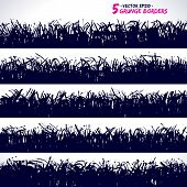 Set Of Grunge Vector Borders