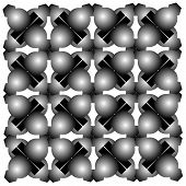 Seaimless Graphic Composition With Balls On White Background