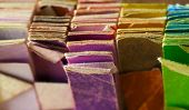 Retro colors of an vintage color samples, close up.