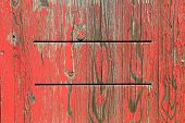 Painted Wooden Background With Exfoliated Red Color