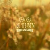 Autumn Vintage Blurred Background