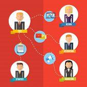 Online Business Flat Illustration Management Concept