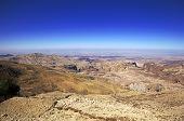 Jordan. The steppe and blue sky