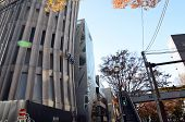 Japan, Tokyo - November 24, 2013: Futuristic Architecture On Omotesando Street