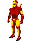 Cartoon red humanoid robot