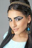 Egyptian Queen Cleopatra - make up model in studio