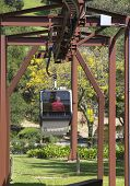Aerial tram at the Sterling Vineyards in Napa Valley