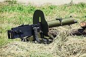 Historical Loaded Machine Gun
