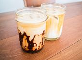 Cold Coffee Mocha And Latte In Glass