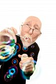 Funny Priest Blowing Bubbles