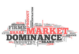 stock photo of dominate  - Word Cloud with Market Dominance related tags - JPG