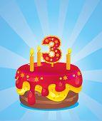 Birthday Iced Cake
