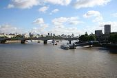 view from Hungerford bridge, London