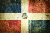 stock photo of greater antilles  - flag of the Dominican Republic - JPG