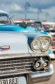 HAVANA, CUBA - DECEMBER 14, 2014 : Classic chevrolet and other vintage american cars