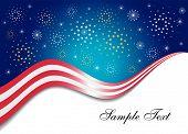Patriotic Firework Background