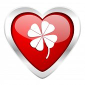 four-leaf clover valentine icon