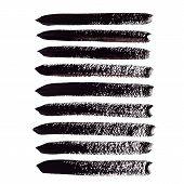 Black acrylic vector brush strokes