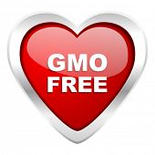 gmo free valentine icon no gmo sign