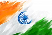 picture of indian  - illustration of grungy Indian Flag for Indian Republic Day - JPG