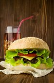 Big Tasty Cheeseburger With Cola