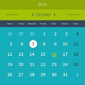 Calendar October 2015