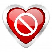 access denied valentine icon
